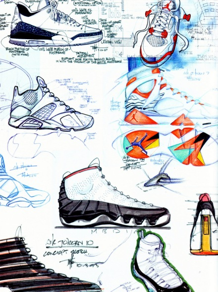 tinker hatfield sketches
